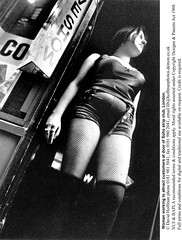 """Strip Club Soho 6 (hoffman) Tags: attracting attractive bw blackandwhite british britishisles club daylight eec employment england english eroticism eu europe europeanunion female fishnet greatbritain labor labour lady outdoors peepshow prostitute prostitution sex sexworker sexy soho standing stripclub stripper uk unitedkingdom vertical waiting woman work worker working workinggirl young youth davidhoffman wwwhoffmanphotoscom london davidhoffmanphotolibrary socialissues reportage stockphotos""""stock photostock photography"""" stockphotographs""""documentarywwwhoffmanphotoscom copyright"""