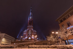 IMGP8775 (jarle.kvam) Tags: winter norway snow church trinitychurch arendal sørlandet treforldighetskirken