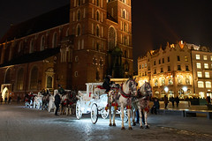 Light Carriage (radkuch.13) Tags: europe poland cracow kraków horses horse carriage night nightlights wideangle history historic sony sonyalpha a7rii