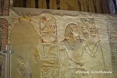 Ramses IX and Hathor (konde) Tags: newkingdom 20thdynasty ramsesix tomb hautamaalaus hieroglyphs ancientegypt valleyofthekings thebes luxor mythology necropolis afterlife tombpainting goddess hathor stela stele litanyofra cartouche kuninkaidenlaakso egypti muinainen kv6 art