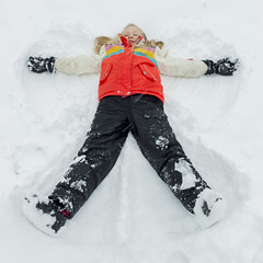 Snow Angel (aaronrhawkins) Tags: snowangel girl ground back provo utah snow storm figure coat clothes cold white spread child young children aaronhawkins