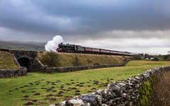 Back on the long drag ... (inspiring.images) Tags: 45596 bahamas jubilee class steam train railway line settle carlisle cumbria west coast sc