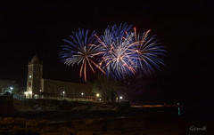 Fiesta (lesxanes) Tags: fuegos fuegosartificiales fireworks noche night church iglesia magic magia asturias luanco