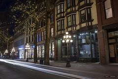Old Town (Clayton Perry Photoworks) Tags: vancouver bc canada winter explorebc explorecanada night lights gastown skyline