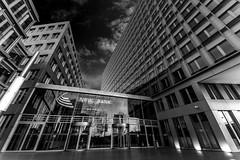 House of money (Iso_Star) Tags: sony monochrome building gebäude nrw bank samyang 14mm samyangaf14mmf28 schwarzweiss stadt city deutschland wolken clouds bw