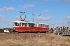 2019-03-02, Lódz, Lutomiersk Most Tramwajowy (Fototak) Tags: tram strassenbahn konstal lódz lutomiersk poland ligne43 2