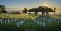 A New Day Arrives (ihikesandiego) Tags: san diego sunrise ft rosecrans national cemetery