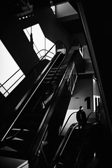 1 (elgunto) Tags: museum barcelona design stairs light shadows people shapes architecture perspective silhouettes sonya7 mir24n 35mm