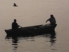 Varanasi - Boat (sharko333) Tags: travel reise voyage asia asien asie india indien uttarpradesh वाराणसी varanasi benares kashi ganga ganges boat people man olympus em1