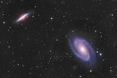 M81 and M82 Galaxies with background Integrated Flux Nebula (Daniel McCauley) Tags: m81 m82 cigar bode galaxy galaxies ifn integrated flux nebula nebulae astrophotography astropix astrophoto core sky nightphotography cloudynights ursa major milkyway milky way