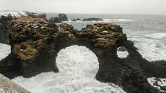 Snaefelness Peninsula Iceland * Explored Mar 15 2019 (Made Bulkes) Tags: iceland islandia snaefelness peninsula snaefelnesspeninsula arnarstapi bridge gatklettur arco arch agujero whole o rocas rocks cliff acantilados formaciones