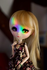 I think I might be in love with you (Juju DollPassion) Tags: pullip favorite ribbon custo custom gold rainbow prism spectre leeke lullaby eyes wig blonde aoki misako doll