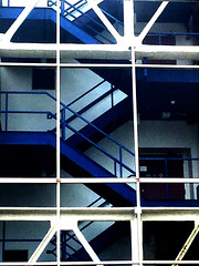 Stairs (JRW Photo Gallery) Tags: stairs abstract blue geometry architecture