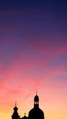 good light (m_laRs_k) Tags: smartphonewallpaper omd olympus jesuitenkirche mannheim 916 vivid 1240 zooom germany sky backlit gegenlicht silhouette ibis sunset clouds blues orange mlarsk