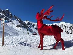 Deer Sculpture In Courchevel (Marc Sayce) Tags: deer sculpture courchevel spring march 2019 mountains snow snowboarding skiing ski resort three valleys trois vallées savoy savoie
