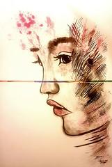 Hayami (franck.sastre) Tags: woman fineart aguadas matamorfosis ojos labios lips eyes art painting picture