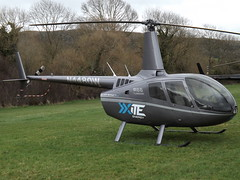 N4480W Robinson R66 Helicopter (Sloane Helicopters North America Incorporated) (Aircaft @ Gloucestershire Airport By James) Tags: cheltenham helipad n4480w robinson r66 helicopter sloane helicopters north america incorporated egbc james lloyds