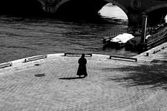 My sister (pascalcolin1) Tags: paris13 femme woman soeur sister seine photoderue streetview urbanarte noiretblanc blackandwhite photopascalcolin 50mm canon50mm canon