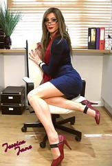 Sexy Specs (jessicajane9) Tags: tg crossdresser tgurl feminization trans m2f xdress tv cd tranny feminised transgender crossdressing tgirl femme travesti crossdress transvestite secretary skirt glasses