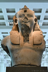 Bust of King Amenhotep III (1390-1352 BC) (Bri_J) Tags: britishmuseum london uk museum historymuseum nikon d7500 bust kingamenhotepiii 18thdynasty ancientegypt westernthebes statue limestone king