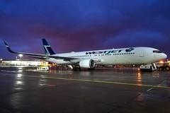 WestJet Diversion (C-FOGT) (Fraser Murdoch) Tags: cfogt cfpgt c fogt gt glasgow international airport egpf gla diversion london gatwick drone divert diverted ws3 wja3 ws4101 wja4101 ws wja westjet west jet canada canadian airline boeing 767 767300 767303er wl winglets stand 38 b767 b763 763 76w ex qantas night airside fraser murdoch huawei p8 lite scotland toronto menzies aircraft aviation