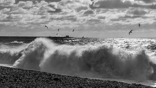 Rough Sea B&W