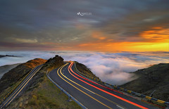 Rush Hour in the Mountains of Madeira (duartesol) Tags: madeira island portugal road light trails moutains visit sunset ribeira brava