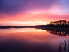 Aube II (Daniel_Hache) Tags: saclay soleil daniel hache sunset coucher etang pont essonne france fr