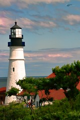 Portland's Headlight (2Colnagos) Tags: lighthouse maine new england tower clouds seaside atlantic oceanside vacation summer portland destination travel