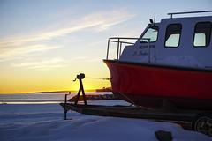 Le Bonheur (Danny VB) Tags: fishing boat bateau pêche sunset winter hiver snow neige windows dannyboy gaspésie granderivière québec canada travel tourism sonyilce6300 6300 alpha a6300 alpha6300 sony mirrorless
