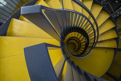 you're the sunflower, you're the sunflower (Post Malone) (BasHandels) Tags: staircase spiralstaircase spiral stairs treppenhaus trappenhuis trap architecture utrecht nederland netherlands yellow dutch