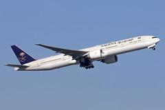 HZ-AK42_Boeing777-300ER_Saudia_LHR (Tony Osborne - Rotorfocus) Tags: boeing 777 tripleseven 777300er saudia saudi arabia kingdom london heathrow airport 2019