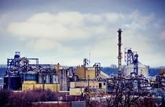 Hamilton Factories. (otterman51) Tags: canada hamilton landscape ontario ortbaldauf clouds colours factory industrial industry ortbaldaufcom outdoors photography sky smoke