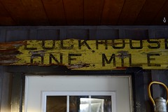Blockhouse, Nova Scotia CNR milepost sign (Jon Archibald) Tags: nikkor nikon d600 western south halifax chester bridgewater lunenburg abandoned cn cnr sign historic railway railroad railways national canadian blockhouse novascotia