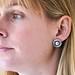 Celine silver round earrings