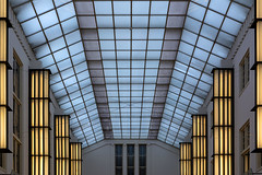 Passage Schiedam (Jan van der Wolf) Tags: map193540v passage schiedam architecture architectuur lijnen lijnenspel lamps lights symmetry symmetric symmetrie interplayoflines playoflines lines glas glass