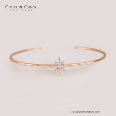 18k Yellow Gold Natural Diamond Pave Starburst Cuff Bangle Bracelet Jewelry NEW (couturechics.facebook1) Tags: 18k yellow gold natural diamond pave starburst cuff bangle bracelet jewelry new