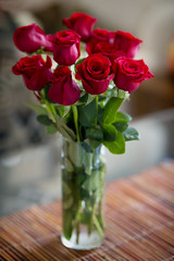 Valentines Day Flowers (ChrisN02) Tags: lasvegas nevada valentinesdayflowers roses bouquetofroses bouquet vase flowervase red colors redroses dozenredroses dozenroses loveroses valentinesday unitedstates