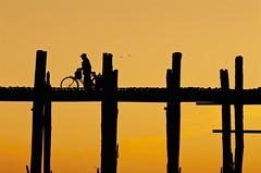 Morning Commute along U Bein Bridge - Amarapura, Myanmar (JR Marquina) Tags: travel asia composition sunrise bridge myanmar mandalay amarapura ubeinbridge explore ngc happyplanet asiafavorites