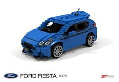 Ford Fiesta ST-Line (B479-2017) (lego911) Tags: ford motor company europe fiesta b479 stline hatch 5door hatchback 5dr 2017 ecoboost gtdi hothatch auto car moc model miniland lego lego911 ldd render cad povray afol foitsop