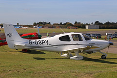 G-OSPY Cirrus SR20 Parked North Weald 29th September 2018 (michael_hibbins) Tags: aeroplane aerospace aviation aircraft airplane air aero airfields airshow airport airports aeroexpo civil general plane planes civi united kingdom uk gospy cirrus sr20 parked north weald 29th september 2018 g british britian england english europe european