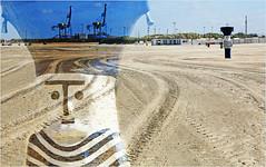 Sur la plage de Zeebruges, Belgium (claude lina) Tags: claudelina belgium belgique belgië zeebruges mer sea merdunord noordzee bruges plage sable cabine grues
