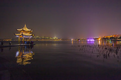 West Lake Night (yc4646) Tags: architectural architecture building ecology ecosystem edifice edifices environment environmentalism hills lake land light lighting nature night pavilion recreationbuilding recreationbuildings reflection reflective scenery structures water hangzhou zhejiang china