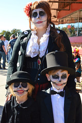 All dressed up for the procession (radargeek) Tags: dayofthedead 2018 october plazadistrict okc oklahomacity badgrannysbazaar facepaint catrina flowers portrait skeleton