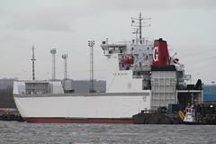 RoRo Ferry: GUTE (IMO 7802794 1979 7616gt) North Shields (emdjt42) Tags: boat ship shipping gute sallyline sallysun northshields roro