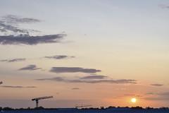 Sunset, Kortrijk, West Vlaanderen (guidocasati) Tags: kortrijk belgium west vlaanderen flanders sunset sun sky scaffolding orange