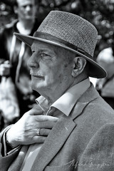 Walking In Style! BW version (Alfred Grupstra) Tags: people men blackandwhite hat outdoors senioradult males portrait adult oneperson cultures old oldfashioned style 727