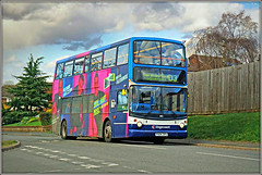 18155, Admirals Way (Jason 87030) Tags: radio advert dennis trident southbrook admialsway doubledecker sunday d3 northampton northants northamptonshire music blue purple splash color colour daventry
