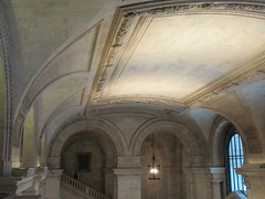 New York Public Library Entrance Hall Lobby 3617 (Brechtbug) Tags: new york public library entrance hall lobby 5th ave facade city interior stairs staircase stone marble 2019 nyc 03122019 art architecture designed by artist sculptor paul wayland bartlett carved the piccirilli brothers was two lions main branch stephen a schwarzman building consolidation astor lenox libraries beaux arts design style