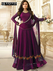 Sparky Purple #AnarkaliSalwarSuit Online On #YOYOFashion.. (yoyo_fashion) Tags: dresses partysuit womenstyle trends offers suit shopping dress ethnic purplesuit